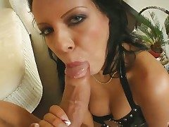 Sexy Chloe gives sucks ger guys cock dry increased by