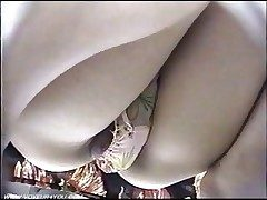 Spycam Low Point of view Mini skirts Panties
