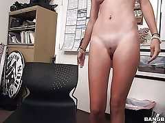 Youthfull bare girl Cece Capella with rigid ass and perky